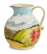 Arte Italica Toscana Pitcher with Poppies, MPN: TOS4341, UPC: 814639004731