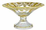 Arte Italica Vetro Gold Scalloped Footed Bowl, MPN: VG4817, UPC: 814639005233
