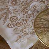 Le Jacquard Francais Haute Couture Gold Tablecloth 69 x 126 Inch 25759, EAN: 3660269257590, MPN: 25759