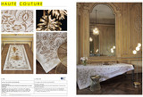 Le Jacquard Francais Haute Couture Swarovski Gold Tablecloth 69 x 149 Inch 25809, EAN: 3660269258092, MPN: 25809