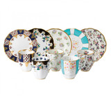 Royal Albert 100 Years 1900-1940 10-Piece Set Mug & Plate 8 Inch Regency Blue Duchess Spring Meadow Mint Deco & English Chintz, MPN: 40035852, UPC: 701587012102
