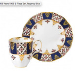 Royal Albert 100 Years 1900 2-Piece Set Mug & Plate 8 Inch Regency Blue, MPN: 40035587, UPC: 701587003674