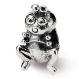 Grasshopper Bead - Sterling Silver QRS1026