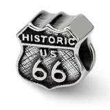 Route 66 Bead - Sterling Silver QRS1135