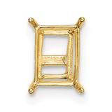 14k Yellow Gold Emerald Wire 5 x 3mm Setting, MPN: YG205