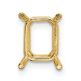14k Yellow Gold Emerald Wire 4 x 3mm Setting, MPN: YG206