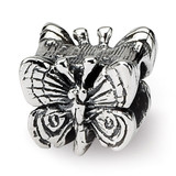 Butterfly Bead - Sterling Silver QRS1231