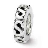 Swirl Spacer Bead - Sterling Silver QRS124