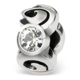 April Swarovski Elements Birthstone Bead - Sterling Silver QRS1263APR