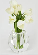 Tizo Crystal Glass Vase Diamond Cut, MPN: PH404VAS