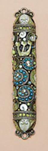 Tizo Jeweled Supreme Mezuzah Green, MPN: RS366GMZ