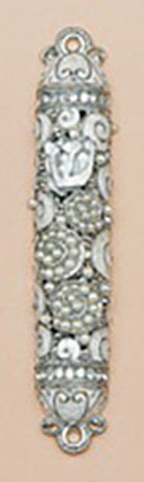 Tizo Jeweled Supreme Mezuzah Silver, MPN: RS367SMZ