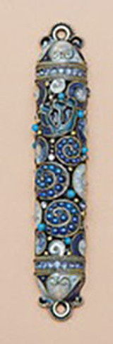 Tizo Jeweled Supreme Mezuzah Blue, MPN: RS368BMZ