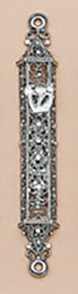 Tizo Jeweled Supreme Mezuzah Silver, MPN: RS373SMZ