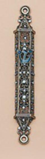 Tizo Jeweled Supreme Mezuzah Blue, MPN: RS375BMZ