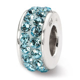 March Double Row Swarovski Elements Bead - Sterling Silver QRS1265MAR