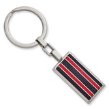 Chisel Black and Red Fiber Glass Key Chain Stainless Steel Polished SRK165