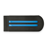 Chisel Black/Blue IP-plated Money Clip Stainless Steel Brushed and Polished SRM195