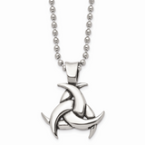 Chisel Antiqued Celtic Knot 22 Inch Necklace Stainless Steel Polished SRN1043-22