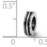 Grooved Spacer Bead - Sterling Silver QRS131
