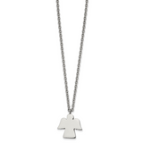 Chisel Angel 18 inch Necklace Stainless Steel Polished SRN2505-18