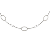 Chisel 38 Inch Fancy Oval Link Necklace Stainless Steel Polished SRN2651-38