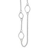 Chisel 36 Inch Fancy Link Necklace Stainless Steel Polished SRN2665-36