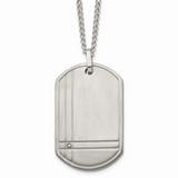 Chisel .01ct. Diamond Accent Necklace Titanium TBN105-22