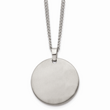 Chisel Brushed Necklace Titanium TBN116-22