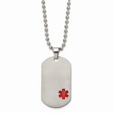 Chisel Medical Jewelry Dog Tag Pendant Necklace Titanium TBN123-22