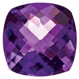 Amethyst 5mm Cushion Checkerboard  AA Quality, MPN: AM-0500-CUX-AA, UPC: