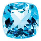 Blue Topaz 5mm Sq Cush  AA Quality, MPN: BT-0500-CUF-AA, UPC: