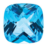 Blue Topaz 5mm Cushion Checkerboard  AA Quality, MPN: BT-0500-CUX-AA, UPC: