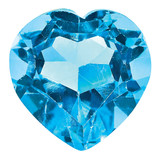 Blue Topaz 3mm Heart Faceted  AA Quality, MPN: BT-0300-HTF-AA, UPC: