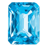 Blue Topaz 10x8mm Octagon Checkerboard  AA Quality, MPN: BT-1008-OCX-AA, UPC: