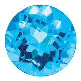 Blue Topaz 5mm Round Checkerboard  AA Quality, MPN: BT-0500-RDX-AA, UPC:
