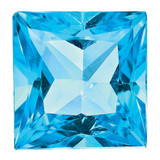 Blue Topaz 3mm Princess  AA Quality, MPN: BT-0300-SQP-AA, UPC:
