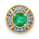 .25 Emerald Fancy Circle Chain Slide 14k Gold Diamond, MPN: PM3922-EM-007-YA, UPC: 883957292380