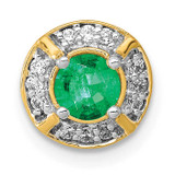 .33 Emerald Fancy Circle Chain Slide 14k Gold Diamond, MPN: PM3922-EM-010-YA, UPC: 883957292502