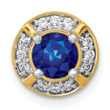 1/8Ct. Diamond & .50 Sapphire Fancy Chain Slide 14k Gold, MPN: PM3922-SA-012-YA, UPC: 883957503011
