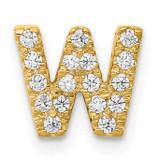 Initial W Charm 14k Gold Diamond, MPN: PM5221W-016-YA, UPC: 191101543951