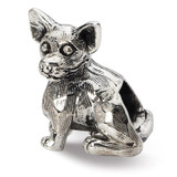 Chihuahua Bead - Sterling Silver QRS1785