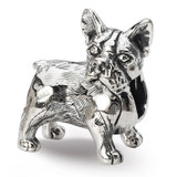 Boston Terrier Bead - Sterling Silver QRS1786