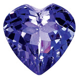 Tanzanite 4mm Heart Faceted AA Quality, MPN: TZ-0400-HTF-AA, UPC: