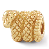 Gold-plated Snake Bead - Sterling Silver QRS248GP