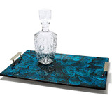 LADORADA Mother Of Pearl Blue Serving Tray, MPN: ST-MB-FH-2114