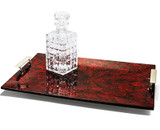 LADORADA Mother Of Pearl Red Serving Tray, MPN: ST-MR-FH-2114