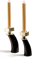 LADORADA Dark Horn Candle Holder Set, MPN: HC-HB-CS-0803