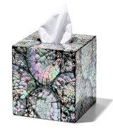 LADORADA Mother of Pearl Black Tissue Box, MPN: TB-MN-NA-0606