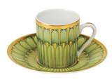 Deshoulieres Arcades Green Coffee Saucer, MPN: SC-RI6722, UPC/EAN: 3104360492219